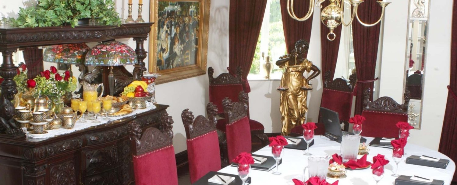 Buhl Mansion formal dining room meeting
