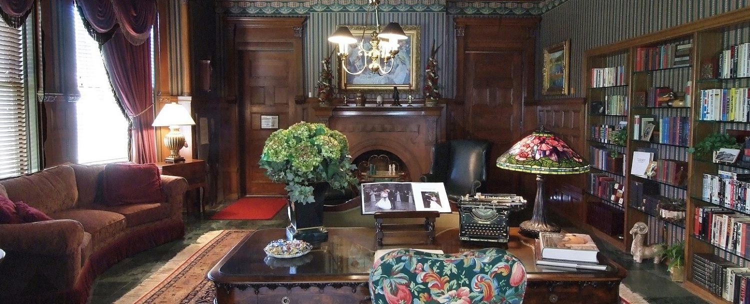 Buhl Mansion interiors library