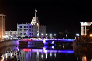 Downtown Sharon PA at night