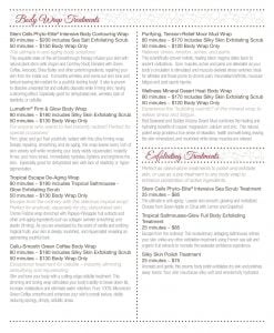 2020 Buhl Mansion Spa Menu pg 4