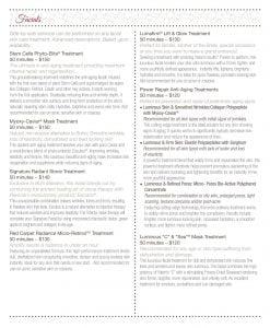 2020 Buhl Mansion Spa Menu pg 5