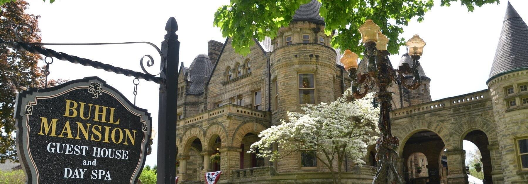Buhl Mansion Exterior Spring